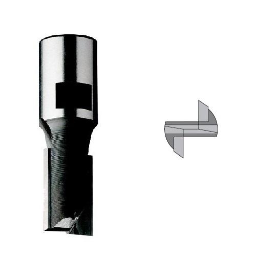 Groeffrees + kopse-snijplaat (binnendraad aansluiting)