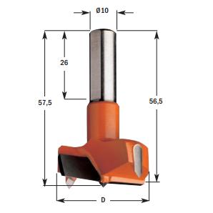 Hardmetalen cilinderkopboren (kort)