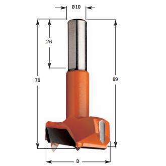 Hardmetalen cilinderkopboren (lang)