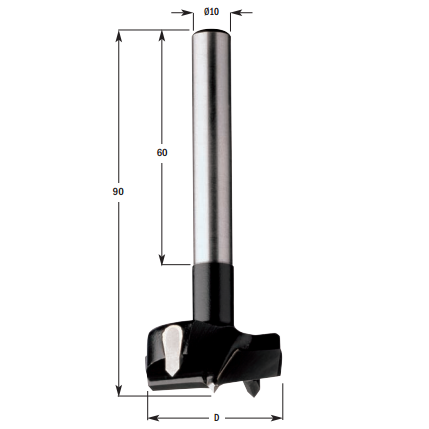 Hardmetalen cilinderkopboren met lange schacht