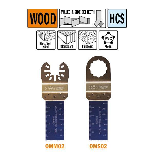22 mm. multitool voor in hout