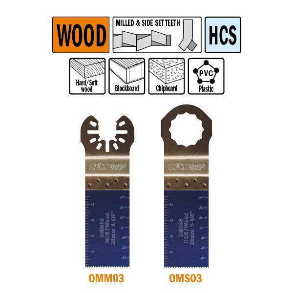 28 mm. multitool voor in hout