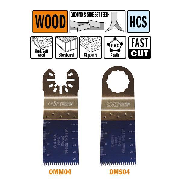 """34 mm. multitool met """"Japanse"""" vertanding voor in hout"""