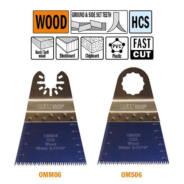 """68 mm. multitool, met """"Japanse"""" vertanding voor in hout"""