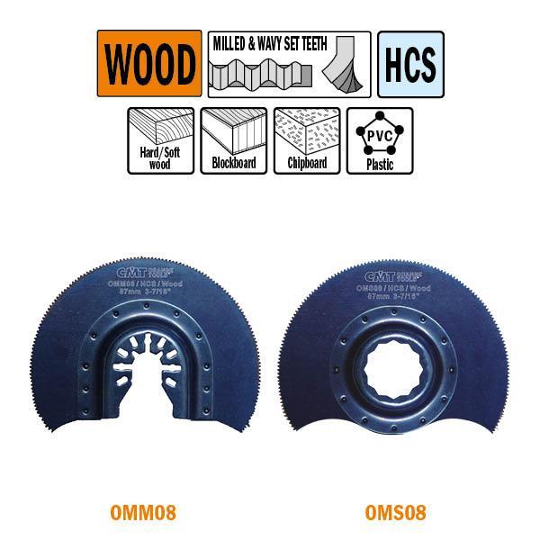 87 mm. Radial-zaagblad voor hout