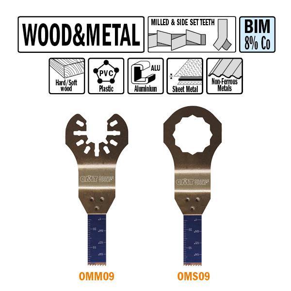 10 mm. Bi-metaal multitool voor hout en metaal