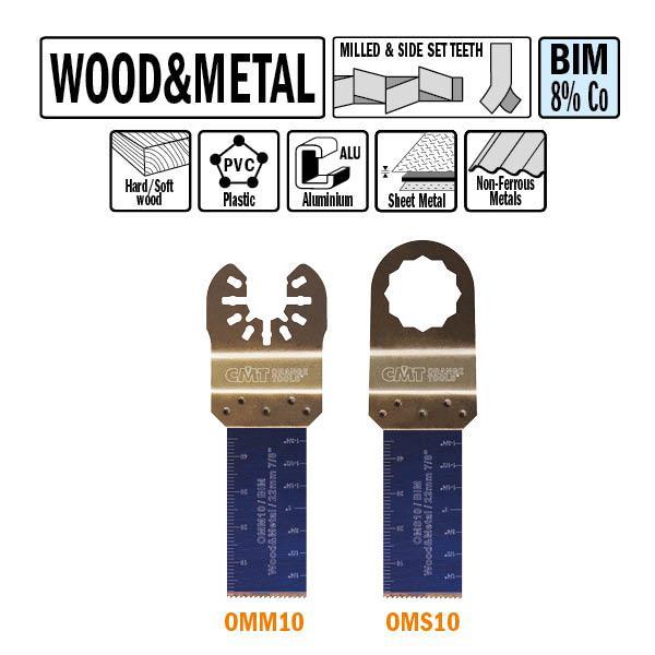 22 mm. Bi-metaal multitool voor hout en metaal