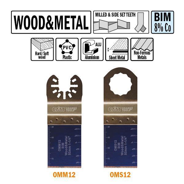 32 mm. Bi-metaal multitool voor hout en metaal