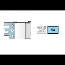 HMWP profiel/contrafrees Ø 140 x 40 x 40  z=2 (excl. messen)