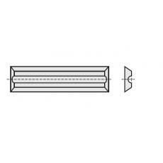 Wisselmessen 12 x 5,5 x 1,1 mm. HC05  z= 4