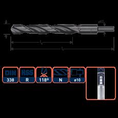 HSS-R Spiraalboor DIN 338, type N, Ø14,0 mm. S=Ø10