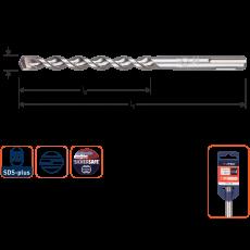 Hamerboor Ø 6 x 100/160 mm. SDS-plus, OPTI-LINE