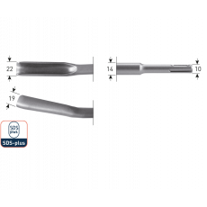 SDS+ gutsbeitel 22x250mm