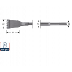 SDS+ HM-tandbeitel, 32x125mm
