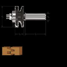 HM profiel- contraprofielfrees Ø 41 mm., S=Ø8 (zweeds profiel)