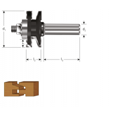 HM profiel- contraprofielfrees Ø 41 mm., S=Ø12 (zweeds profiel)