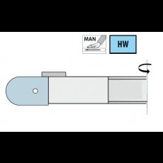 HMWP radiusfrees Ø 160 x 30 mm.  z=2  R=15