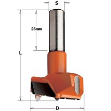 Hm cilinderkopboor Ø 45 x 57,5 mm.  Rechts (met spaanbrekers)