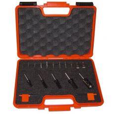Set van 5 HMWP frezen opnane Ø8 in PVC kistje