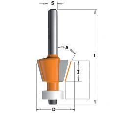 Hm afkantfrees Ø 18,6 x 11/57 mm. 15º  (met lager)