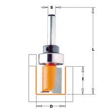 Hm kantenfrees Ø 15 x 20/57 mm. (met lager)