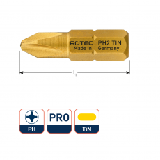 PRO Insertbit PH2 L25 TIN (Phillips) (10st.)