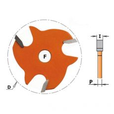 Schijffrees Ø 47,6 x 3,2 mm.