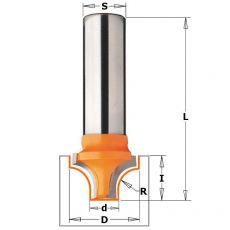 Hm klassieke profielfrees Ø34,9-Ø9,5 x 25/65,5mm. R12,7