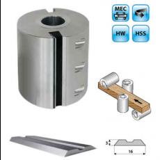 Aluminium schaafkop Ø140mm met HSS centrolock messen, asgat Ø40, MEC
