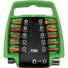 11 delige TIN bitclip set