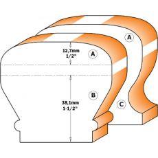 Hm afrondfrees Ø 63,5 mm. (profiel A)