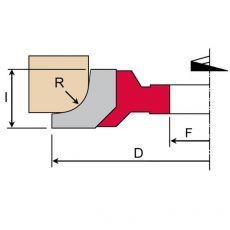 HMWP kwartrondfrees Ø 140x15  z=2  incl. R- 4-5-6-7-8-10 MAN