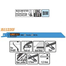 Bi-metaal reciprozaagblad 225/205 x 19 mm. 18tpi (5 stuks)