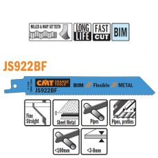 Bi-metaal reciprozaagblad 150 x 0,9 mm. 14tpi  (20 stuks)