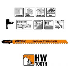 Decoupeerzagen HM 110 x 132 mm. 6tpi (fiber & plaster)