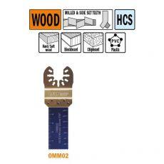 22 mm. multitool voor in hout 5st. (Universeel)