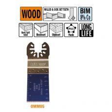 34 mm. Bi-metaal multitool voor in hout 5st. (Universeel)