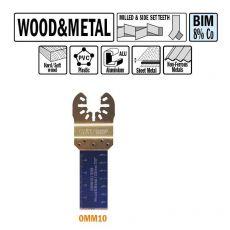 22 mm. Bi-metaal multitool voor hout en metaal 5st. (Universeel)