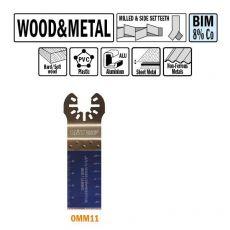 28 mm. Bi-metaal multitool voor hout en metaal 50st. (Universeel)