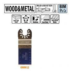 32 mm. Bi-metaal multitool voor hout en metaal 50st. (Universeel)