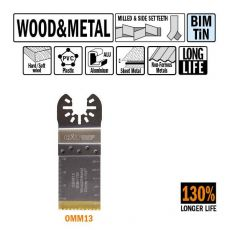 32 mm. Bi-metaal TIN multitool voor hout en metaal 1st. (Universeel)
