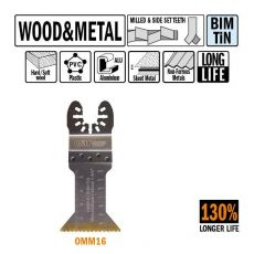 45 mm. Bi-metaal TIN multitool voor hout en metaal 5st. (Universeel)