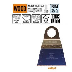 68 mm. Bi-metaal multitool voor in hout 5st. (SuperCut)
