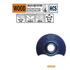 87 mm. Radial-zaagblad voor hout 1st. (SuperCut)