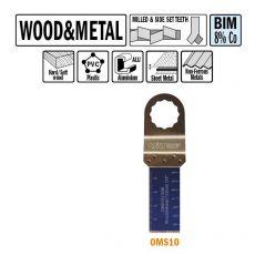22 mm. Bi-metaal multitool voor hout en metaal 5st. (SuperCut)