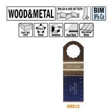 32 mm. Bi-metaal multitool voor hout en metaal 5st. (SuperCut)