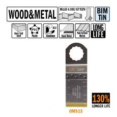 32 mm. Bi-metaal TIN multitool voor hout en metaal 1st. (SuperCut)