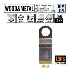 32 mm. Bi-metaal TIN multitool voor hout en metaal 5st. (SuperCut)