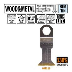45 mm. Bi-metaal TIN multitool voor hout en metaal 5st. (SuperCut)