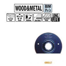 87 mm. Bi-metaal radial-zaagblad voor hout en metaal 1st. (SuperCut)